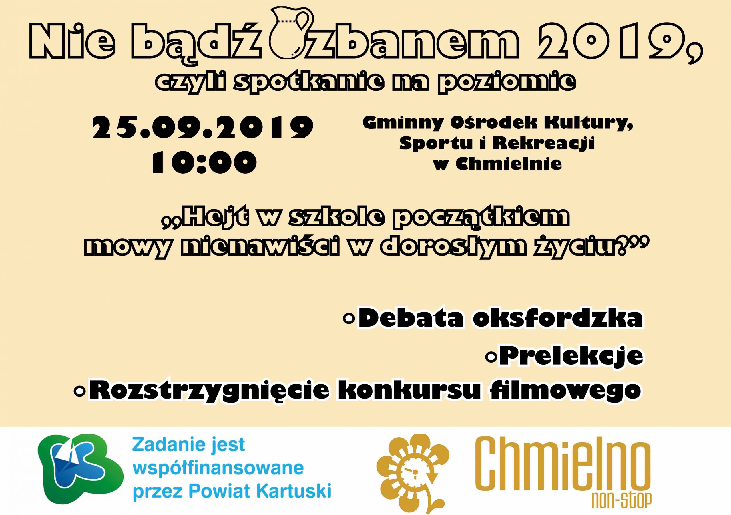 'Nie bądź dzbanem 2019′ w Chmielnie – Kartuzy.info – kartuzy.info