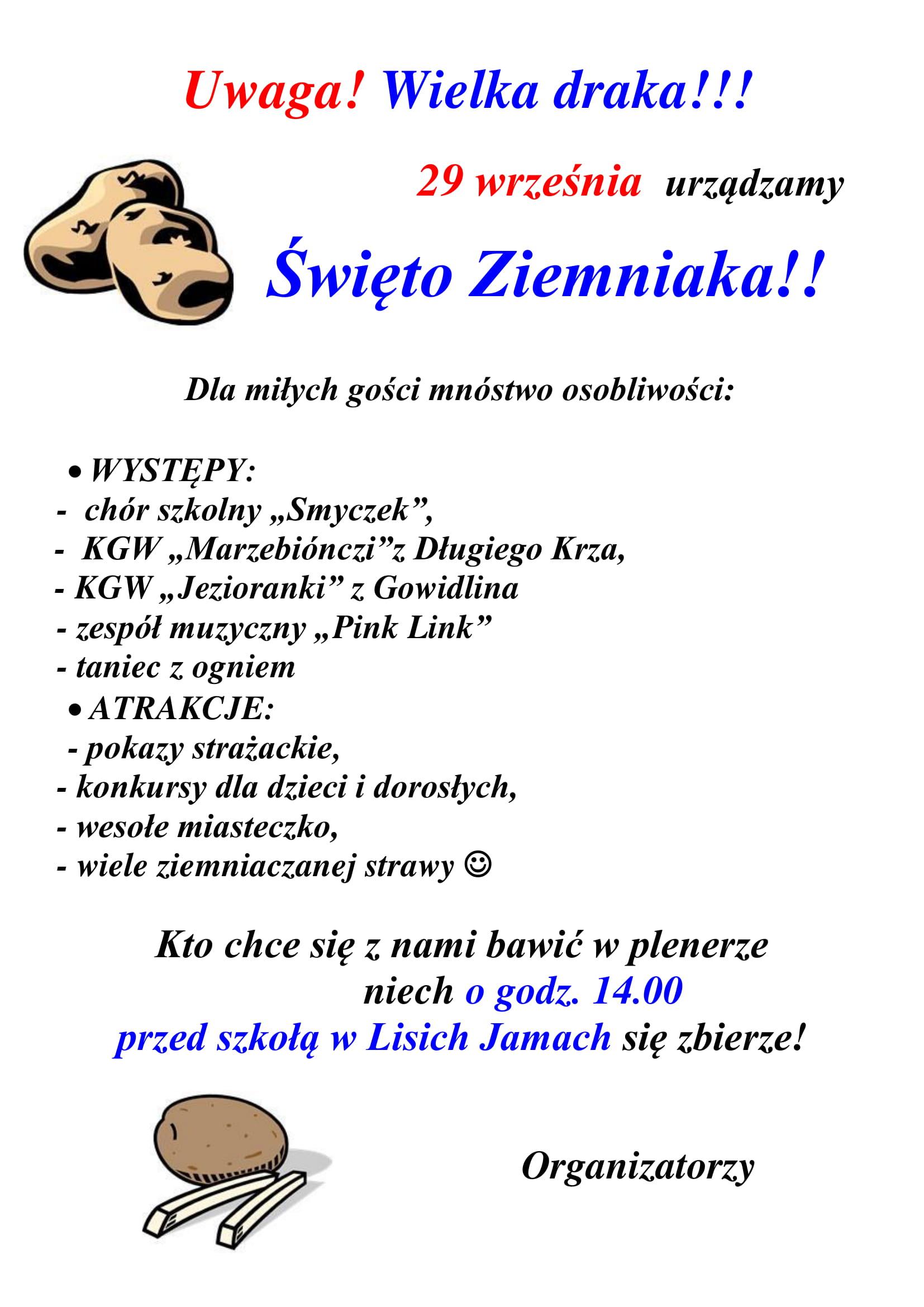 Święto Ziemniaka w Lisich Jamach – Kartuzy.info – kartuzy.info